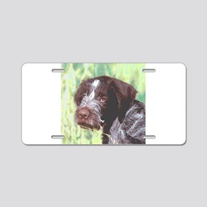 german wirehaired sq 2 watercolor Aluminum Lic